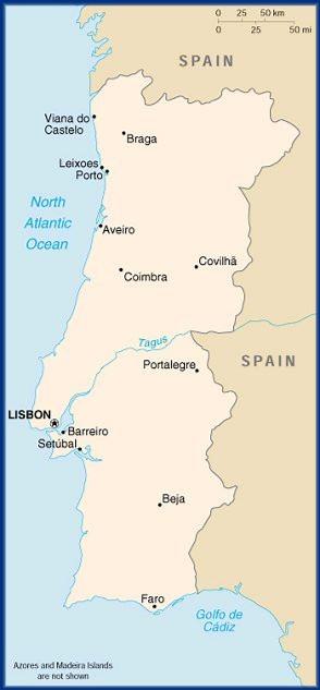 NIKLAScom Portugal - Portugal map north